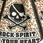 ILEA-ABH-02002[Rock Spirit] Cotton Eco Canvas Shoulder Tote Bag / Multiple Pockets