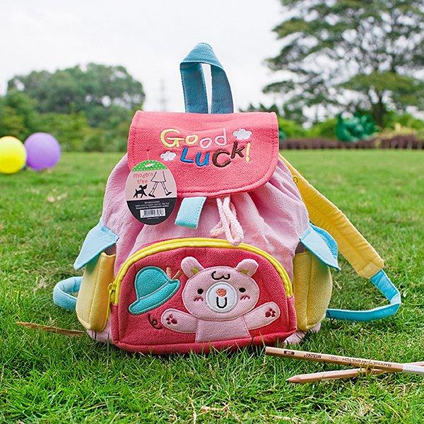 KT-BE-19-RABBIT[Pink Rabbit] Kids Fabric Art School Backpack / Outdoor Backpack (8.7*10.2*4.3)