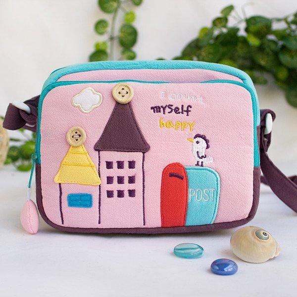 KT-BE-26-PINK[Morning Tweet] Swingpack Bag Purse / Wallet Bag / Shoulder Bag (7.1*5.3*3.7)