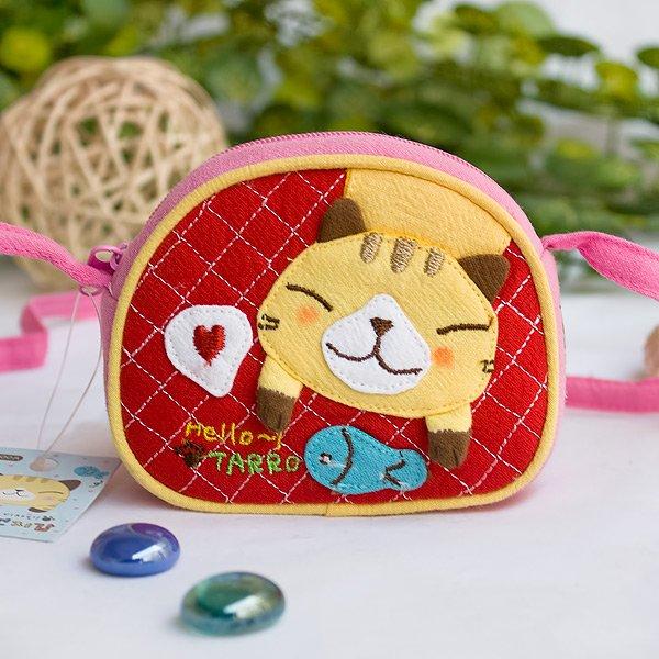 KT-GA-35-CAT[Kitty & Fish] Swingpack Bag Purse / Wallet Bag / Coin Purse (3.9*3.3)