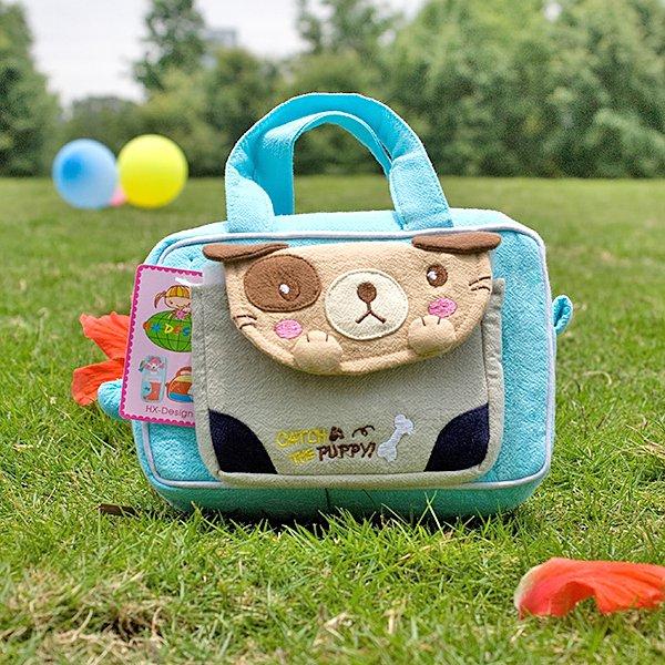 KT-K-136-BLUE[Catch the Puppy] Kids Fanny Waist Pack / Travel Lumbar Pack (6.7*4.3*2.6)
