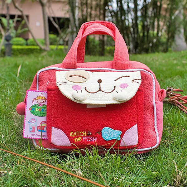 KT-K-136-LIGHTRED[Catch the Fish-2] Kids Fanny Waist Pack / Travel Lumbar Pack (6.7*4.3*2.6)