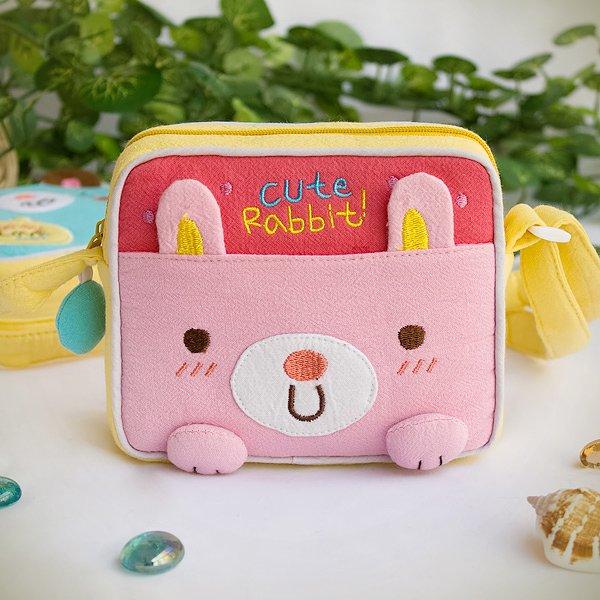 KT-K-139-RABBIT[Cute Rabbit] Swingpack Bag Purse / Wallet Bag / Shoulder Bag (5.5*4.7*1.2)