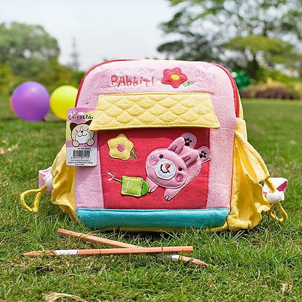 KT-K-152-RABBIT[Happy Rabbit] Kids School Backpack / Outdoor Backpack (7.9*8.7*2.4)