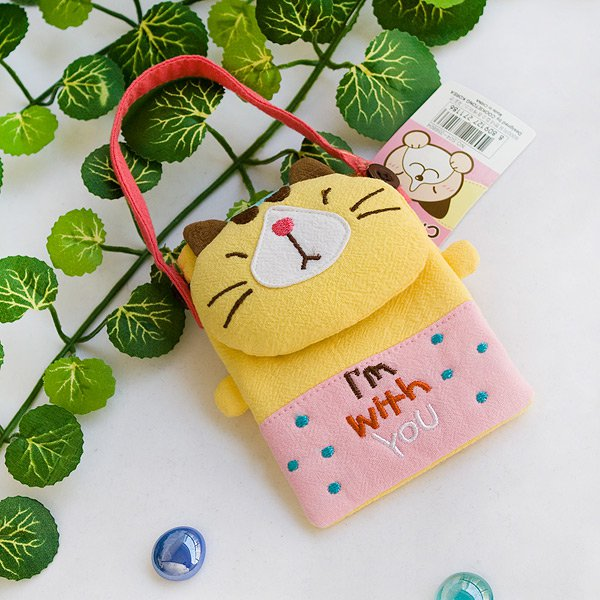 KT-K-212-CAT[Pretty Cat] Mini Swingpack Bag Purse / Wallet Bag / Camera Bag (4.4*3.2)