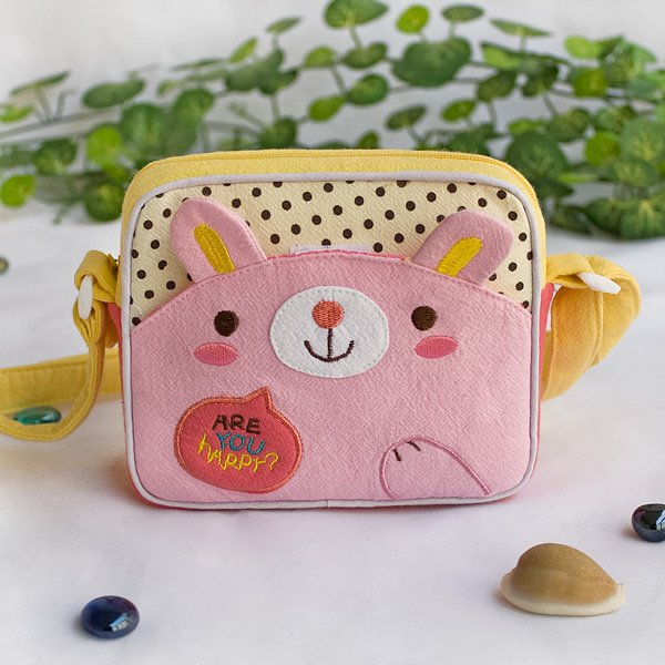 KT-K-220-RABBIT[Lovely Bunny] Swingpack Bag Purse / Wallet Bag / Shoulder Bag (5.5*4.7*1.2)