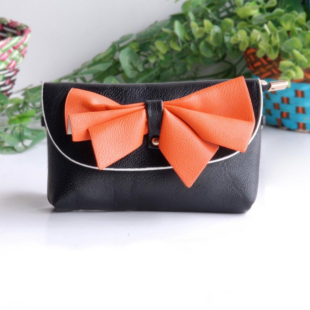 FB-BX069-BLACK[Imagine] Colorful Leatherette Clutch Shoulder Bag Clutch Casual Purse