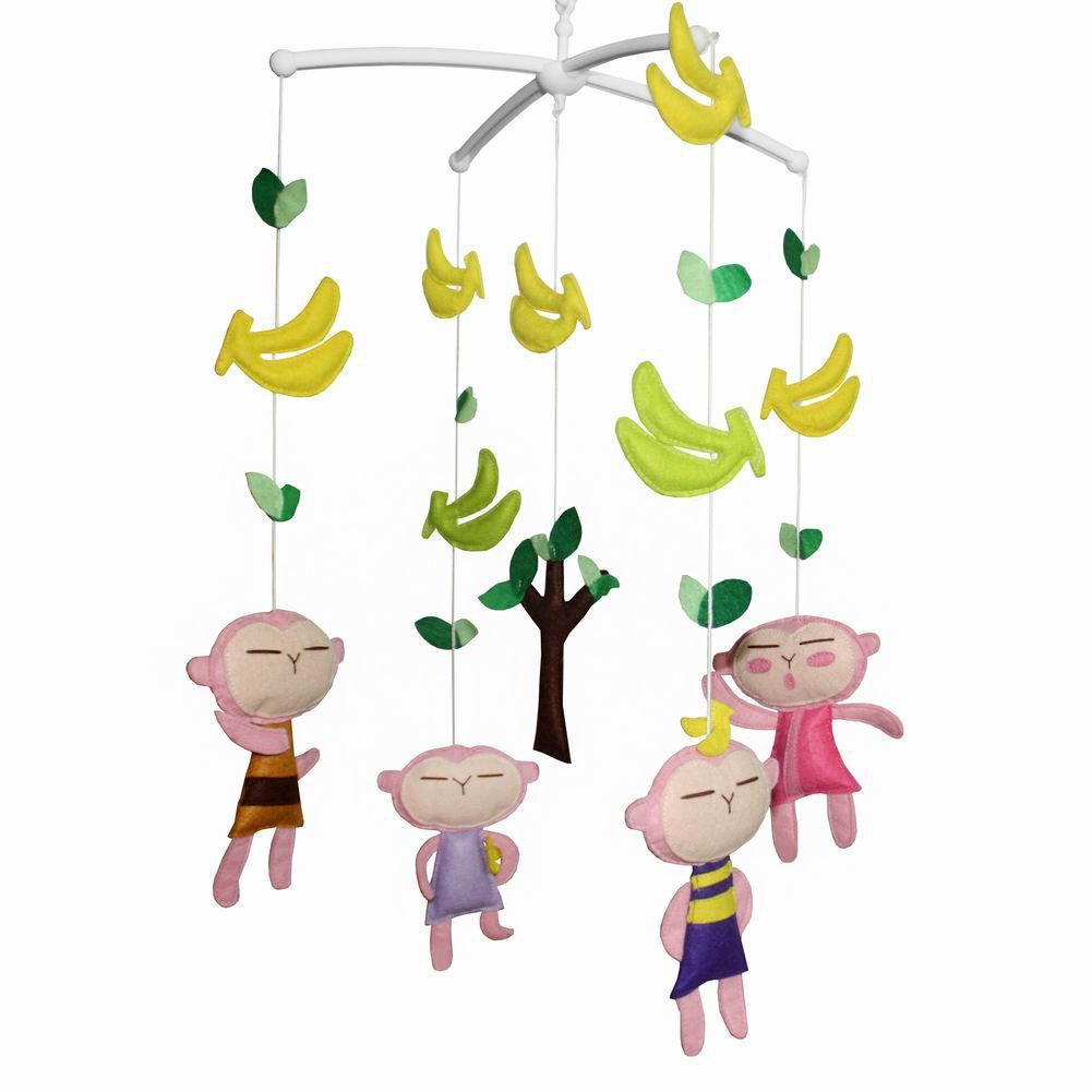 BC-BAB-ONIM0006-MIKI-CATH Handmade Crib Mobile Cute Baby Mobile Crib Decorations [Happy Paradise]