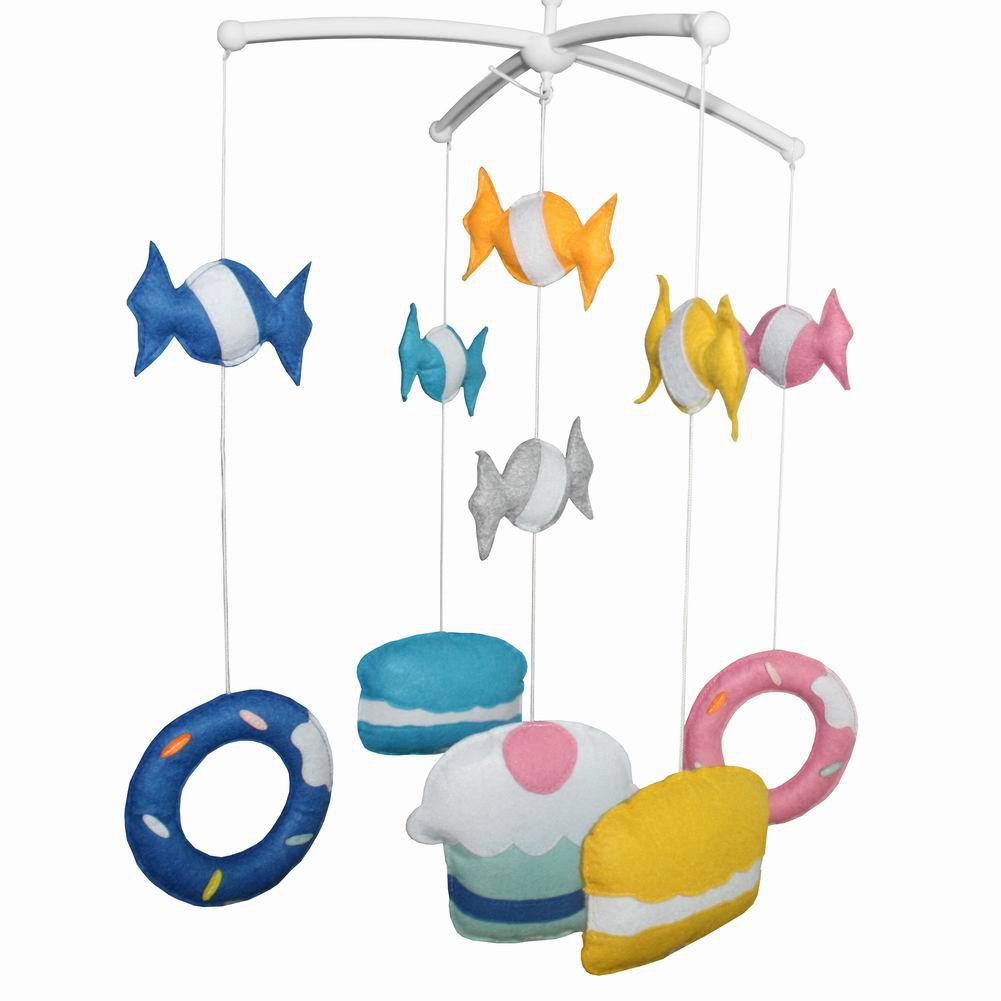 BC-BAB-ONIM0008-WING-CATH Baby's Friend Creative Crib Mobile Crib Decorations Cute Musical Mobile