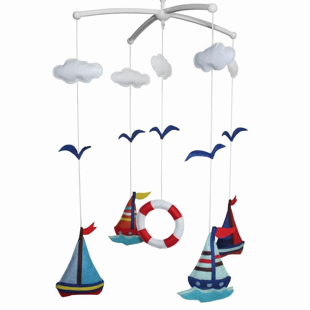 BC-BAB-ONIM0012-MIKI-CATH [Ocean World] Creative Crib Mobile Handmade Baby Crib Musical Mobile