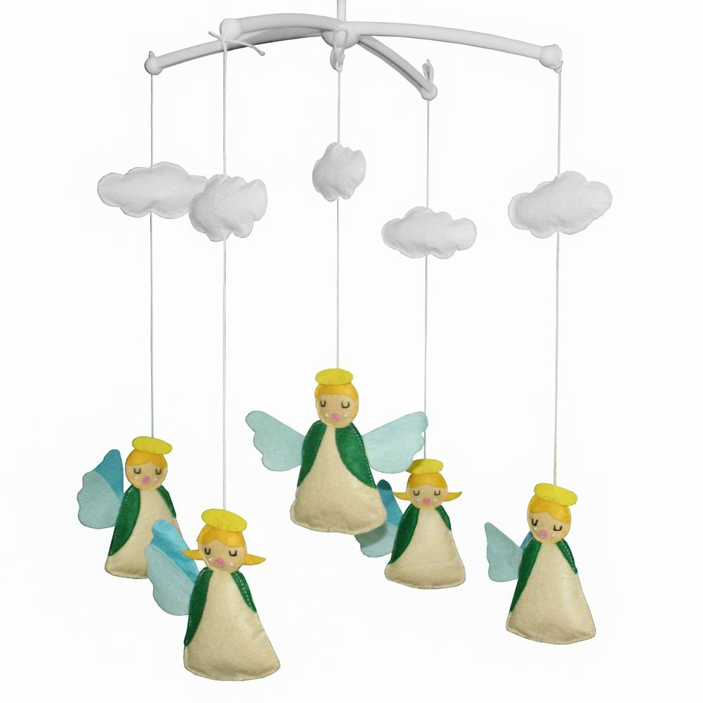 BC-BAB-ONIM0013-BELL-CATH [Happy Angel] Creative Crib Mobile Handmade Baby Crib Musical Mobile