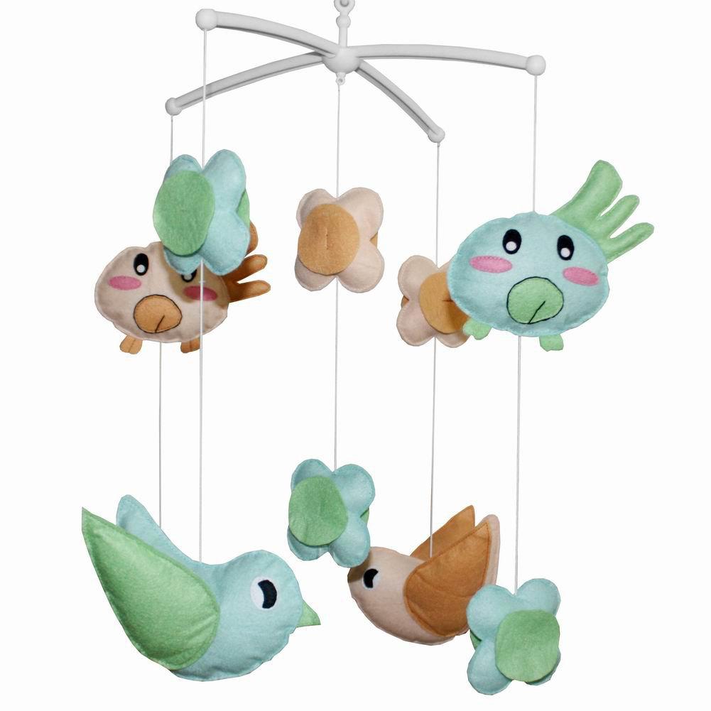 BC-BAB-ONIM0014-WING-CATH Creative Infant Crib Mobile Handmade Baby Crib Musical Mobile
