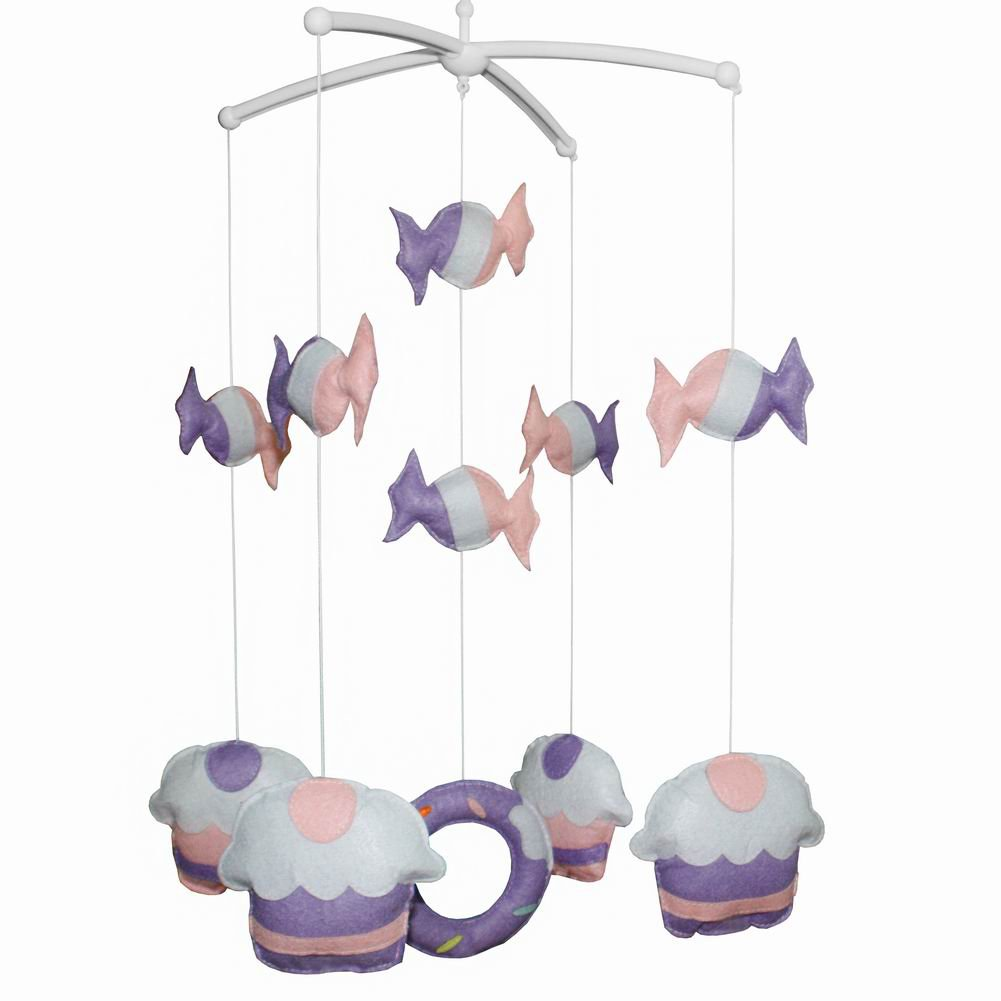 BC-BAB-ONIM0016-WING-CATH Lovely Infant Music Mobile Handmade Baby Crib Mobile [Candy & Cake]