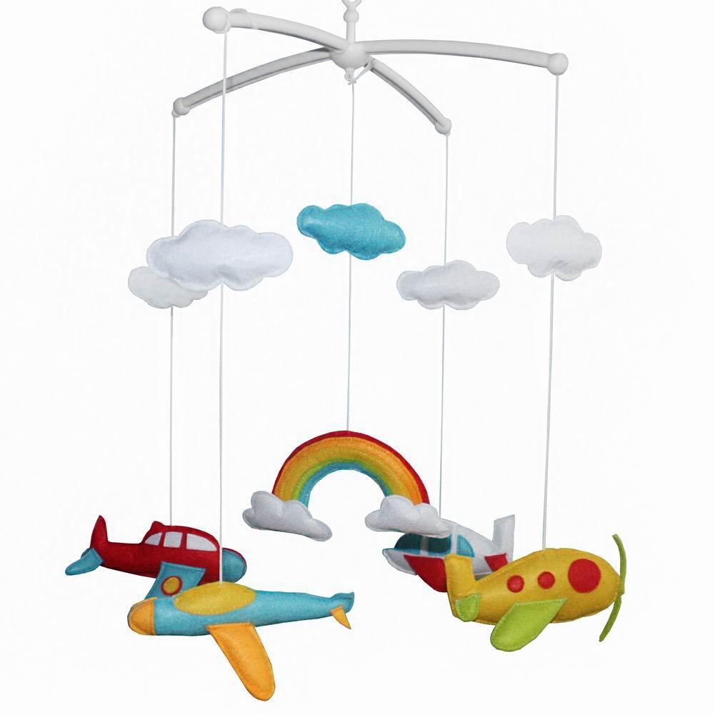 BC-BAB-ONIM0017-MIKI-CATH Lovely Infant Music Mobile Handmade Baby Crib Mobile Hanging Bell
