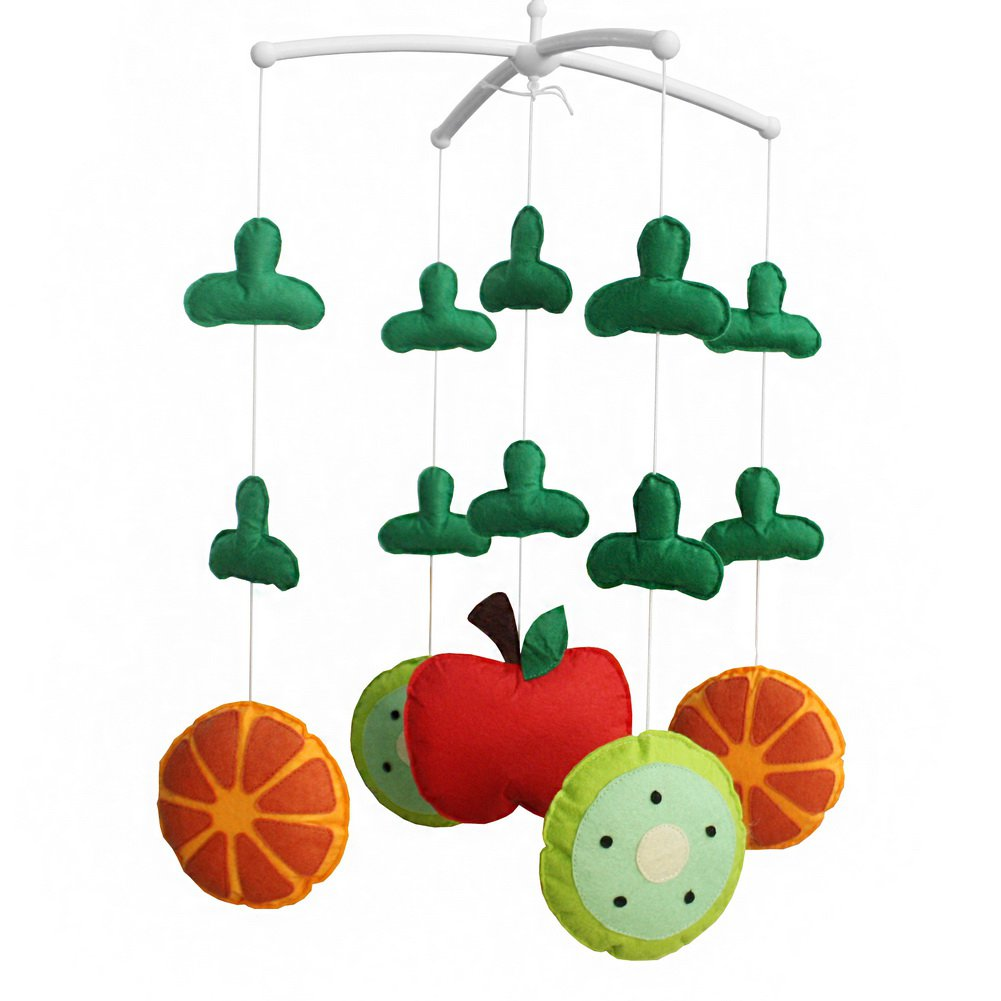 BC-BAB-ONIM0022-WING-CELI [Fresh Fruit] Baby Crib Mobile Music Box Holder with Toys