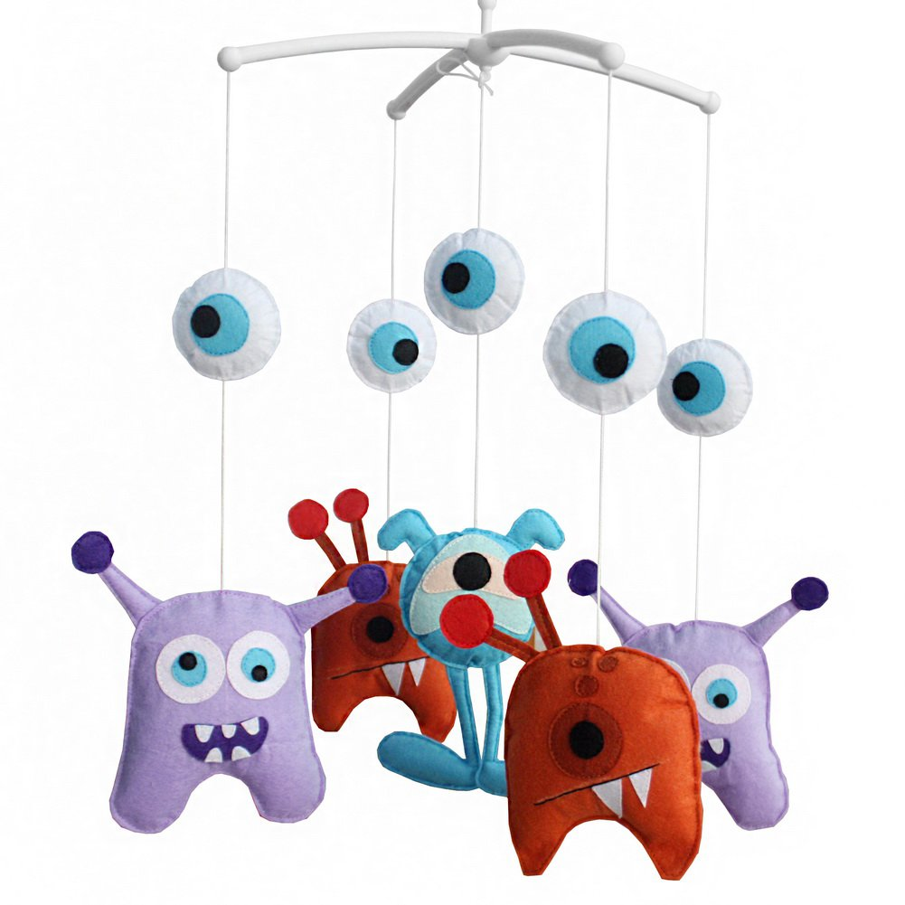 BC-BAB-ONIM0025-WING-CELI [Cartoon Monster] Baby Musical Toys Crib Dreams Mobile