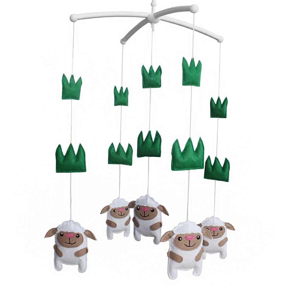 BC-BAB-ONIM0035-BELL-EMMA [Sheep] Baby Crib Dreams Mobile Crib Hanging Bell