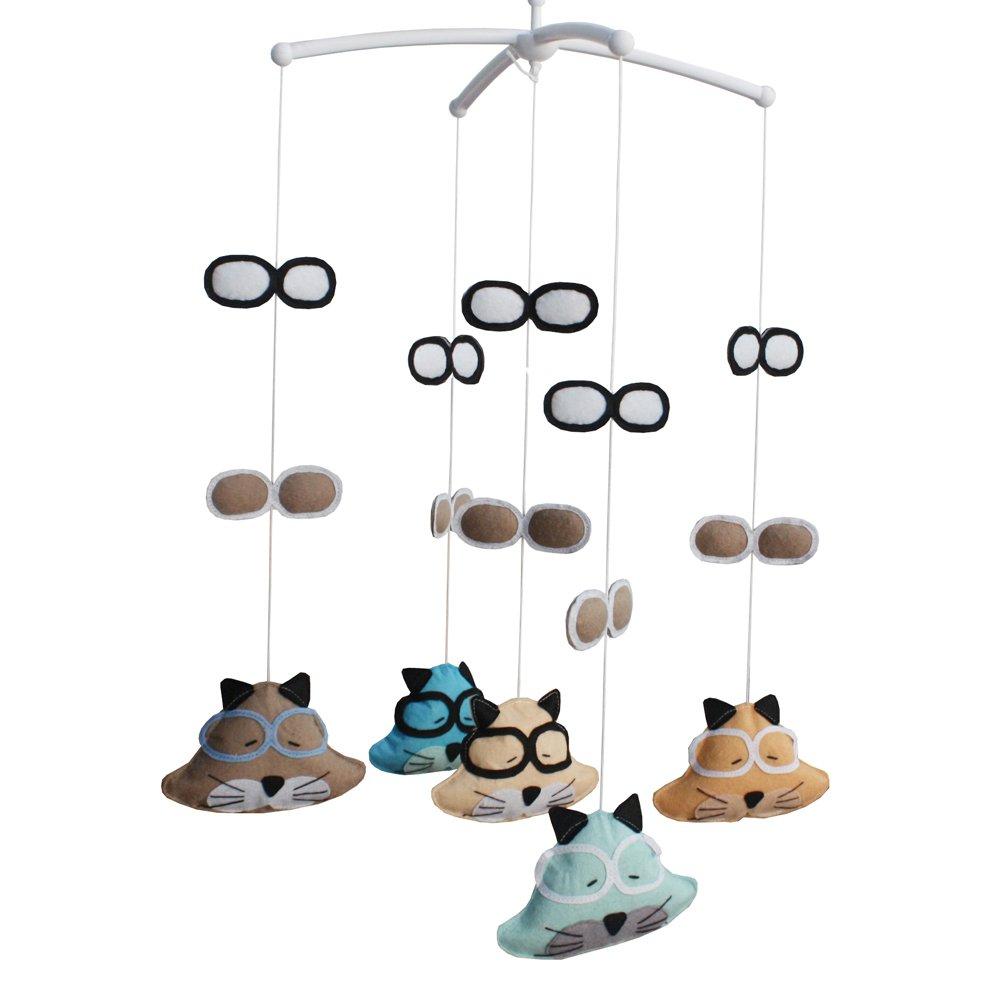 BC-BAB-ONIM0039-BELL-EMMA Cute Handmade Baby Crib Mobile Crib Hanging Bell Musical Toys