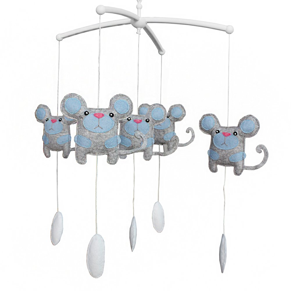 BC-BAB-ONIM0042-BELL-EMMA [Mouse] Lovely Crib Mobile Infant Bed Hanging Bell