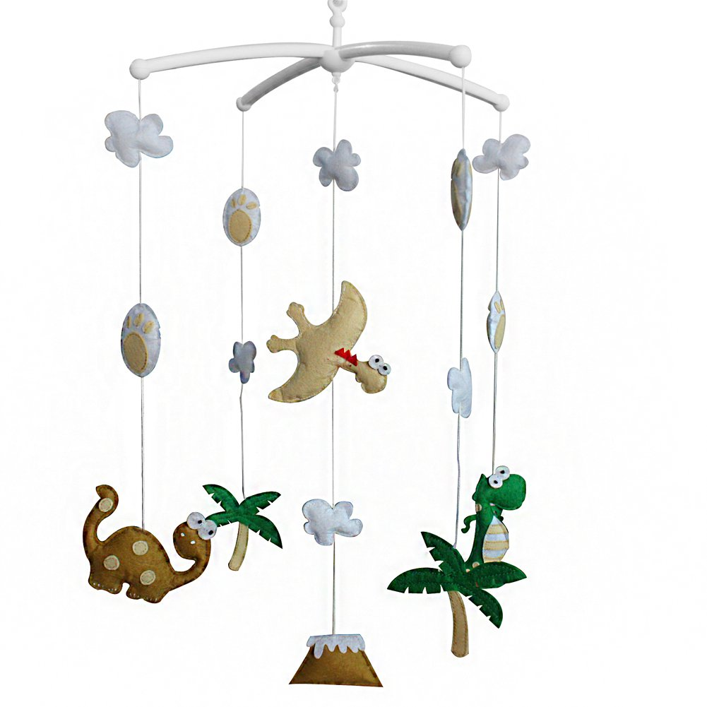 BC-BAB-ONIM0046-BELL-EMMA [Dinosaur] Cute Crib Mobile Infant Bed Hanging Bell Crib Musical Toy