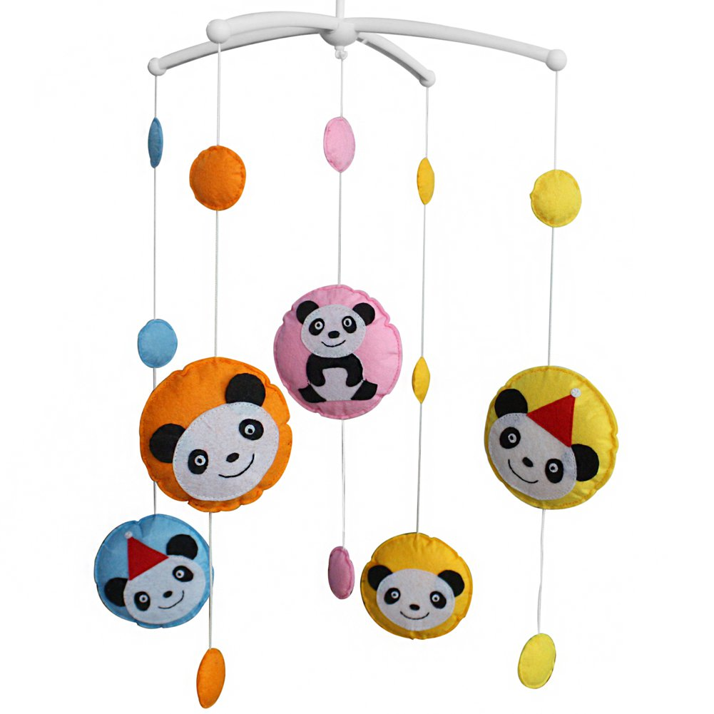 BC-BAB-ONIM0050-BELL-EMMA [Panda] Crib Mobile Crib Hanging Bell Infant Musical Toy