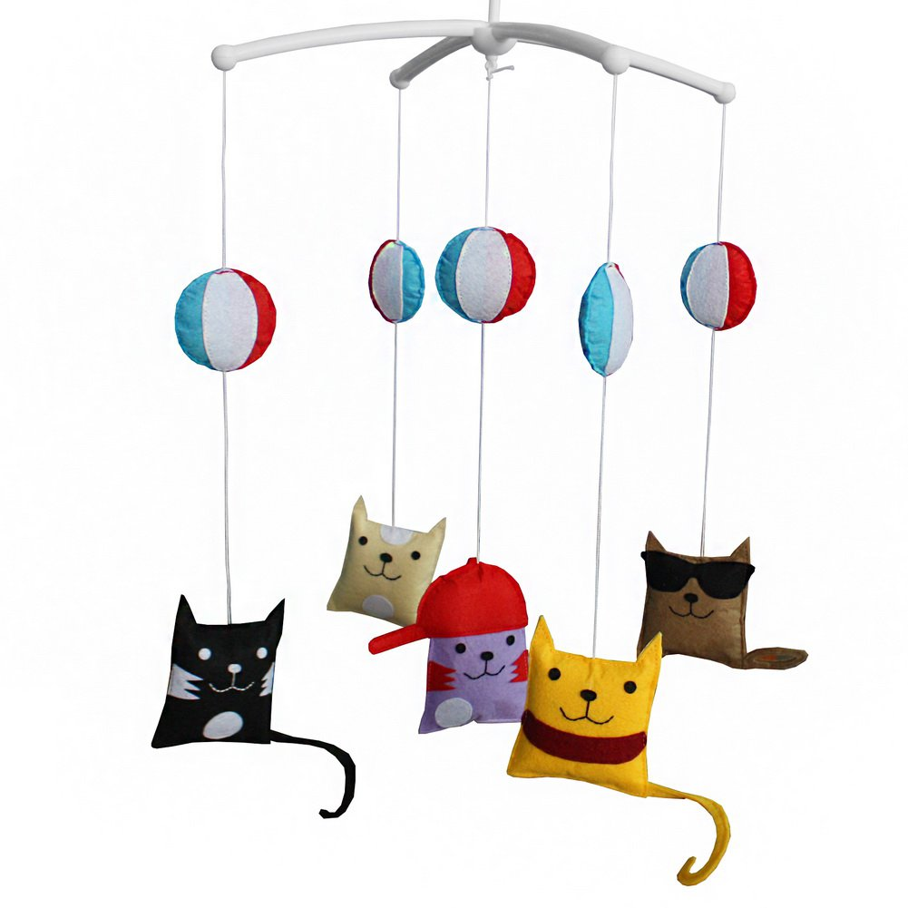 BC-BAB-ONIM0059-WING-CELI Creative Infant Musical Mobile Hanging Bell Mobile for Baby