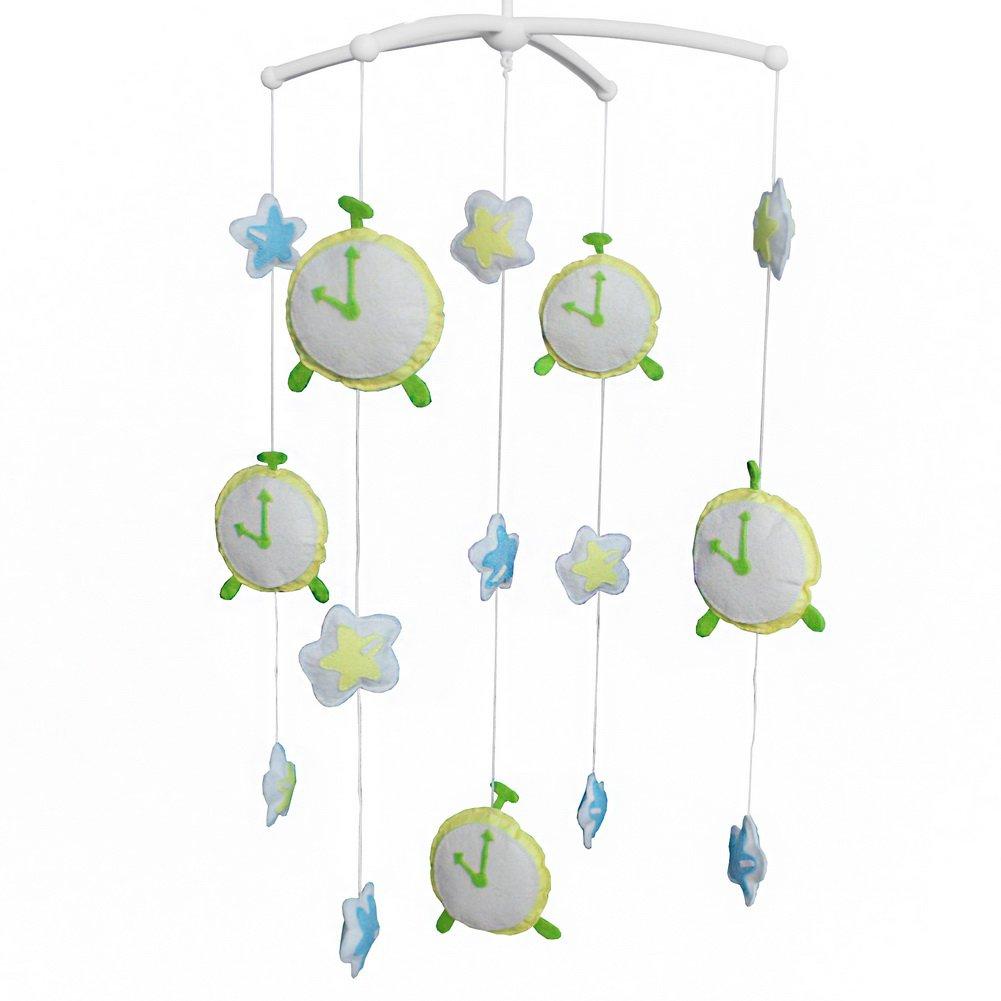 BC-BAB-ONIM0063-BELL-CELI Creative Crib Musical Baby Crib Mobile Handmade Mobile [Clocks]