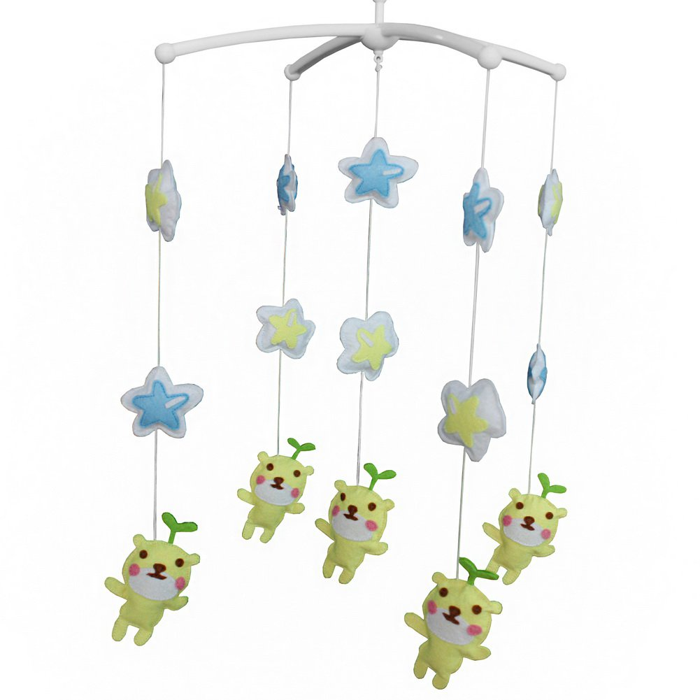 BC-BAB-ONIM0064-BELL-CELI Creative Mobile Nursery Mobile for Baby Toddler Rattle Musical Mobile