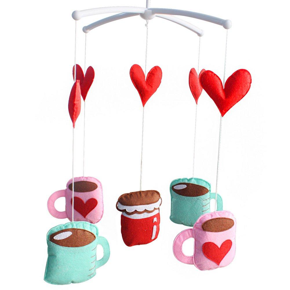 BC-BAB-ONIM0083-WING-CELI Newborn Baby Crib Stroller Rotatable Handmade Bed Bell [Cups]