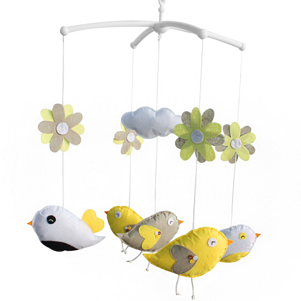 BC-BAB-ONIM0089-ELSA-CELI Handmade Crib Mobile Nursery Mobile for Baby Room Rotate Bed Bell