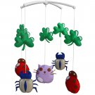 BC-BAB-ONIM0092-WING-CELI Rotatable Musical Mobile for Baby Crib / Stroller, [Cute Insect]