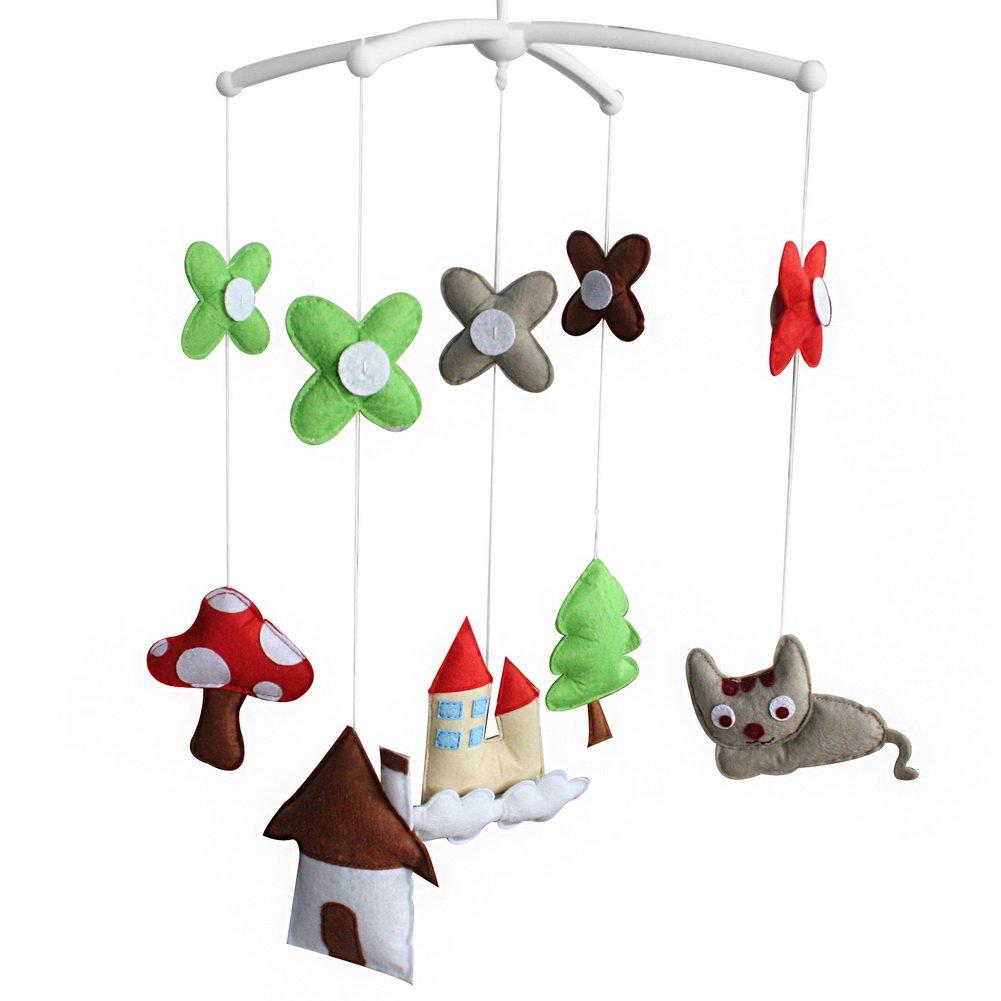 BC-BAB-ONIM0103-WING-CELI Kids' Crib Toy [Sweet Life] Crib Stroller Rotatable Musical Mobile