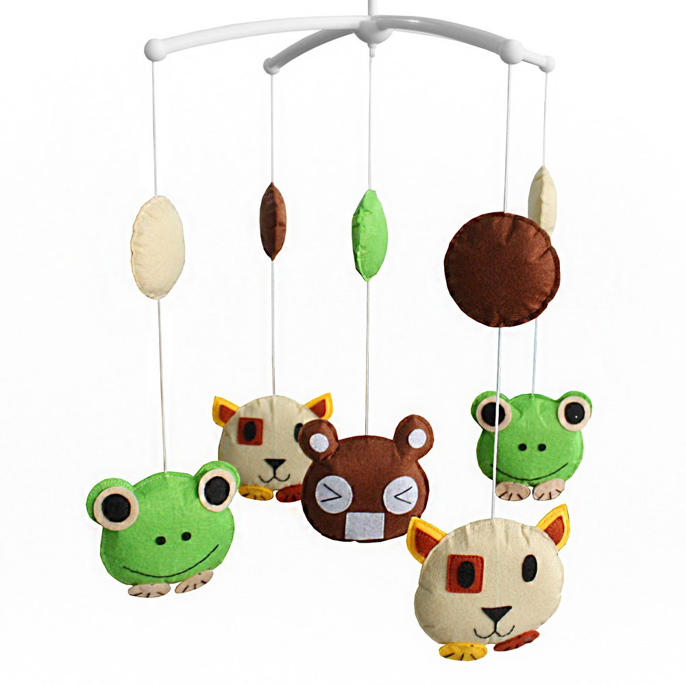 BC-BAB-ONIM0110-WING-CELI Baby Crib Rotatable Musical Mobile Cartoon Animal Friends Bed Bell