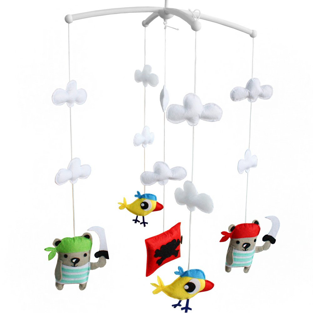 BC-BAB-ONIM0113-BELL-CELI Handmade Baby Crib Rotatable Bed Bell Creative Musical Mobile Baby Toys