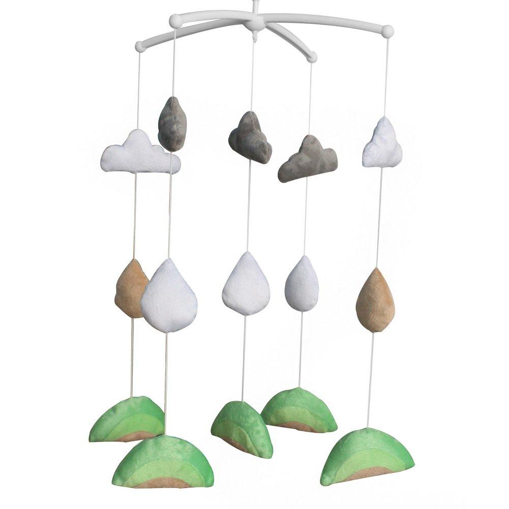 BC-BAB-ONIM0135-BELL-CELI Handmade Nursery Rotatable Musical Mobile for Crib Decoration Plush Toys
