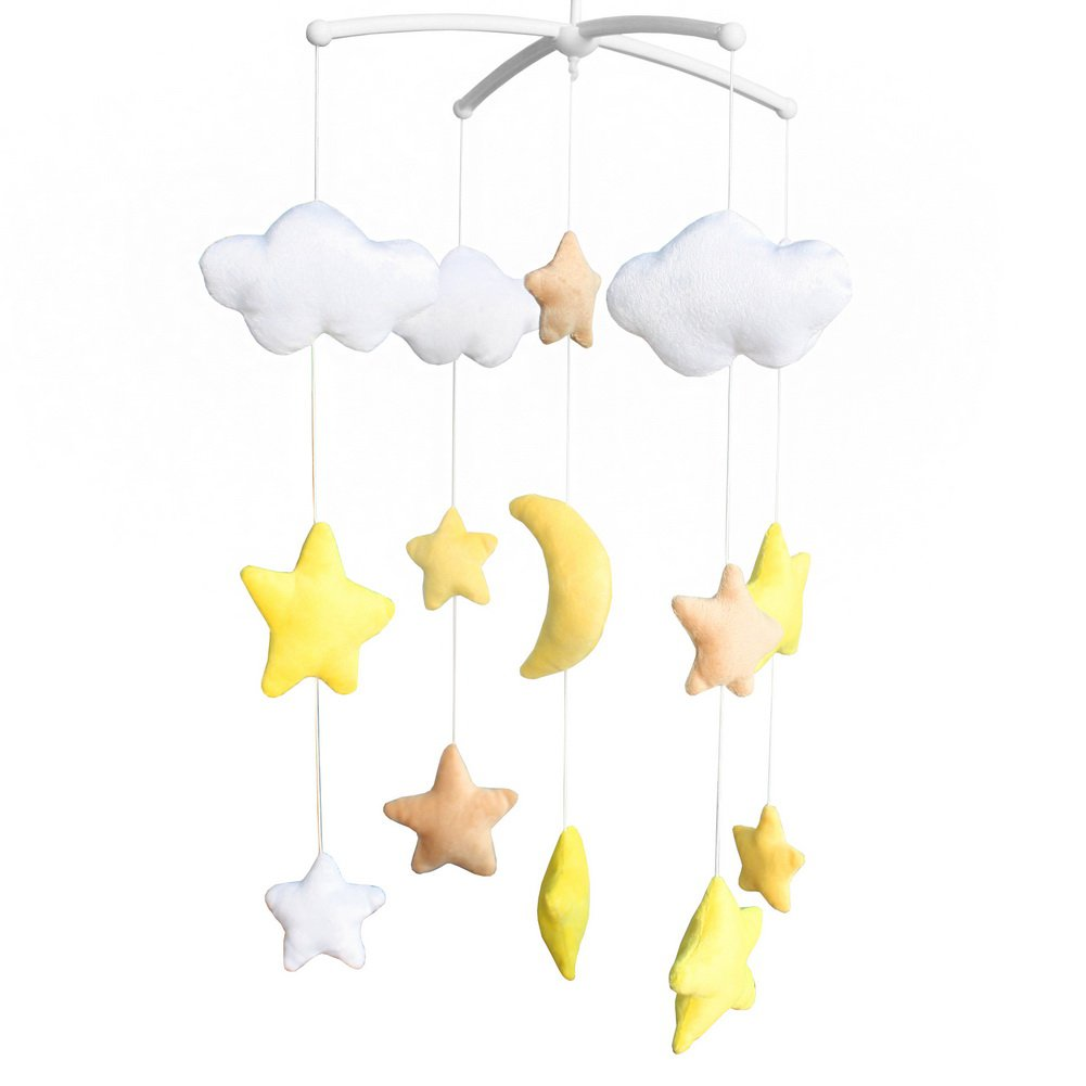 BC-BAB-ONIM0138-BELL-CELI Handmade Plush Hanging Toys Exquisite Baby Crib Bed Bell [Starry Sky]