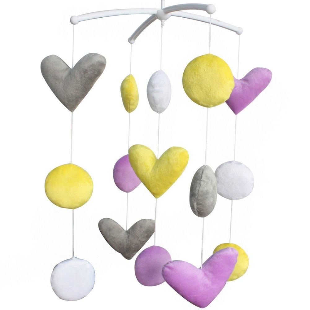 BC-BAB-ONIM0141-WING-CELI Soft Plush Toys Exquisite Baby Crib Decoration Wind-up Music Box Mobile