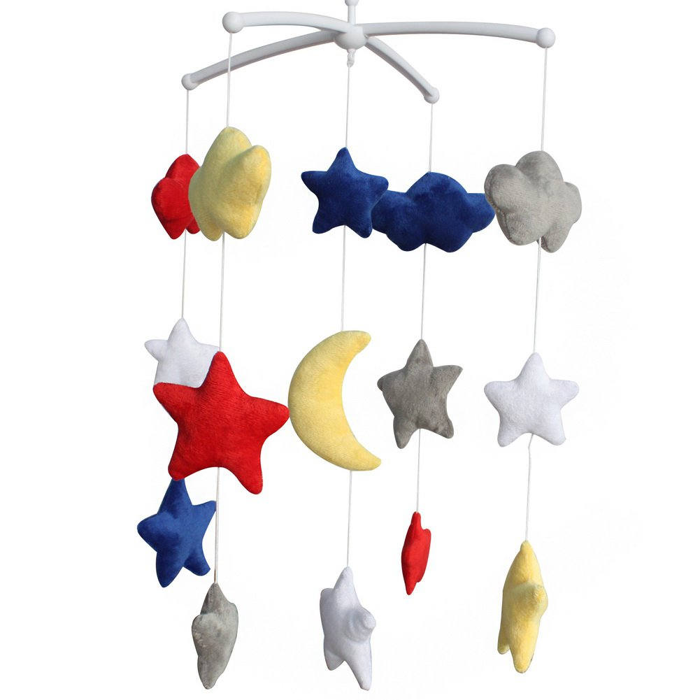 BC-BAB-ONIM0143-BELL-CELI Adorable Baby Crib Decoration Mobile [Midnight] Wind-up Music Box Mobile