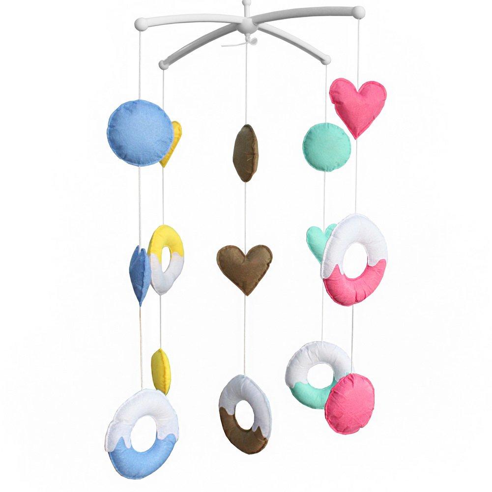BC-BAB-ONIM0152-BELL-CELI [Sweet Dream] Baby Crib Toy Newborn Baby Crib Rotatable Plush Mobile