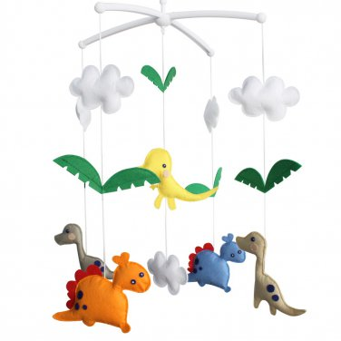BC-BAB-ONIM0167-WING-CELI Crib Decoration Musical Mobile - [Dinosaur] Exquisite Hanging Toys