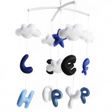 BC-BAB-ONIM0173-BELL-CELI Baby Bedding Musical Mobile [Happy Life] Handmade Baby Toys