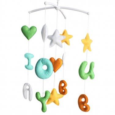 BC-BAB-ONIM0174-BELL-CELI Nursery Musical Mobile, Handmade Hanging Toys, Crib Decor Mobile