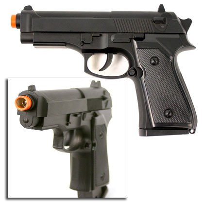 Metal Alloy Beretta Type Airsoft Pistol