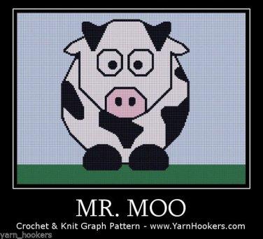Mr. Moo - Afghan Crochet Graph Pattern Chart