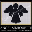 Angel Silhouette - Afghan Crochet Graph Pattern Chart