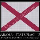 Alabama - State Flag - USA - Afghan Crochet Graph Pattern Chart