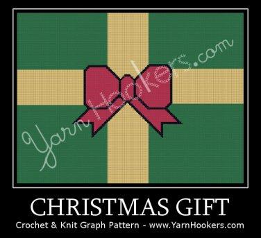 Christmas Gift - Afghan Crochet Graph Pattern Chart