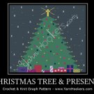 Christmas Tree with Presents-  Afghan Crochet Graph Pattern Chart