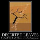 Deserted Leaves - Afghan Crochet Graph Pattern Chart