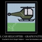 Double Cab Helicopter - Afghan Crochet Graph Pattern Chart